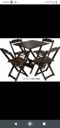 Mesa 4 cadeiras na promoção direto da fábrica