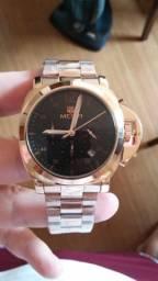 Relógio Masculino Megir Bronze Aço inox
