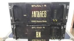 Vendo ou troco por ( carro ou moto ) 2 potências studio r ( bx 2700 e antares 2000)
