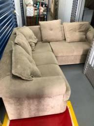 Sofá em L muito confortável