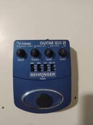 Pedal de Guitarra Behringer GDI21 + cabo Santo Angelo p10-xlr 7m