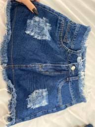 Saias jeans semi novas