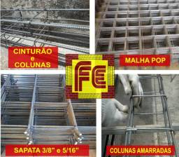 Ferragens Prontas: Cinturão/Coluna, Sapata, Malha...