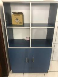 Armário escritório 2 portas azul