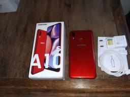Samsung A10s 32gb 3 mês de uso impecável Com Nota fiscal Passo Cartão