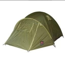 Barraca De Camping Trilhas E Rumos Super Esquilo 4 Pessoas 2000Mm - Verde