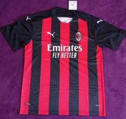 Camisa do Milan rubro-negra (Disponível: GG)
