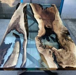 Exclusivas mesas River table, fabricamos sob medida