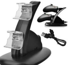 Carregador Duplo Para 2 Controles Xbox One Suporte Preto