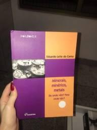 Título do anúncio: livro minerais, minérios, metais