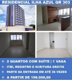 Apartamentos de 2 Quartos Suíte pronto para Morar - Taxas Grátis - Entrada Facilitada