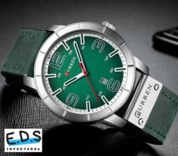 Relógio Masculino de Luxo Curren Aprova D'água Super Elegante