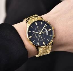 Promoção Relógio de Luxo Masculino Nibosi - Original