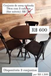 Vendo Conjunto Mesa com Cadeiras