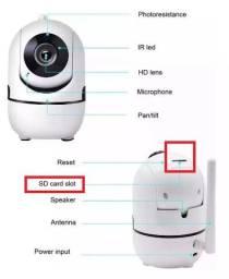 Câmera Interna Função Varredura Babá Eletrônica 360