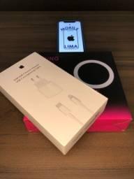 Promoção: Carregador iPhone 20w original USB-C + Cabo 1m + Ringh Light
