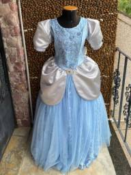Vestido Princesa Cinderela - Adulta