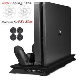 Título do anúncio: Suporte para Ps4 com ventilador de refrigeração e carregador para controle
