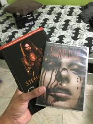 Kit com o livro e o filme da carrie a estranha