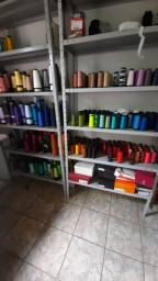Artefatos para costura , linhas , botões , tecidos , máquinas de costura em geral