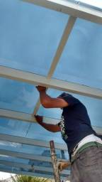 Limpeza e Vedação de cobertura de vidro