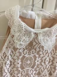 Vestido curto rendado Branco lindo