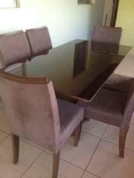 Vendo linda mesa de janta 6 cadeiras
