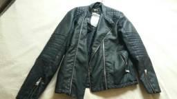Jaqueta de couro ecológico nova tamanho G