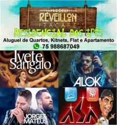Reveillon Praia Itacaré com Ivete Sangalo e Alok Aluguel Quartos Kitnet Apartamento Flat