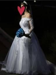 Vestido de Noiva Tam 38 - Lindíssimo