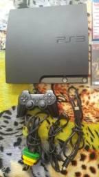 Playstation 3 Slim 320 Gigas + 9 Jogos originais + 1 Controle Passo Cartão
