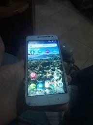 Motorola Moto g4play tela trincada mais funciona tudo bateria mt boa