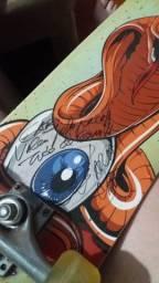 Skate autografado
