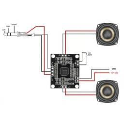 Pam8610 2x15w placa de amplificador de áudio digital.<br><br>