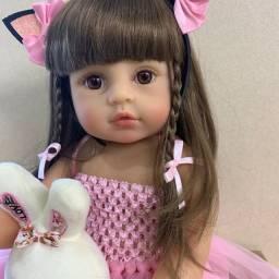 Boneca Bebê Reborn Realista 100% silicone Original Npk Pronta Entrega