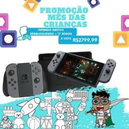 Nintendo Switch -Cinza | Desbloqueado com 17 jogos instalados