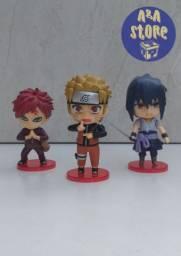 Bonecos Naruto, Gaara e Sasuke importados