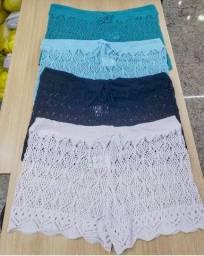 Kit 3 Shorts Saída Praia Piscina Crochê