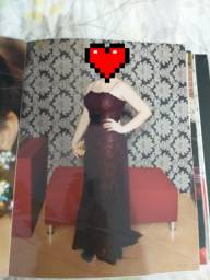 Vestido festa longo roxo/vinho/berinjela