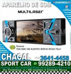 Título do anúncio: .Radio para carro (produtos novos e com nota fiscal) grátis serviço instalação