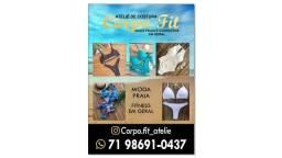 Costureira moda praia e fitness