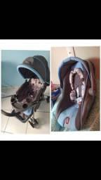 Kit bebê conforto e carrinho de bebê