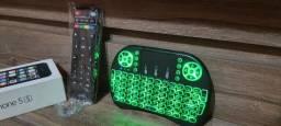 teclado + controle original pra box tv