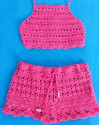 Crooped e short infantil