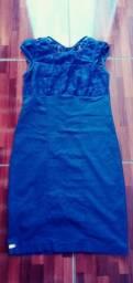 Vestido usado com renda Tam G .Ipatinga