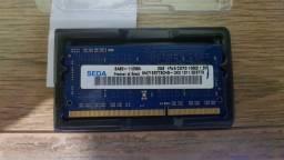 Memoria Ram Notebook DDR3, 2GB, 1600 Hz, 1,5v, usada. Ipatinga