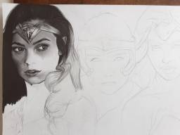 Desenho em andamento - Mulher maravilha