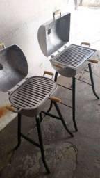 Churrasqueiras de alumínio batido