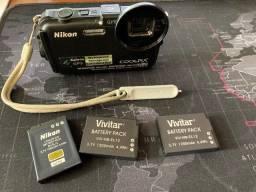 Camera a Prova D'Agua - Coolpix AW100 - Muito Nova