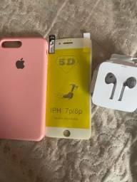 Capa película fone iPhone 8 Plus leia anúncio